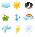 Weather icon set Royalty Free Stock Photo