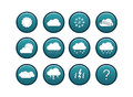 Weather icon set blue including icons of wheather for unknown wheather Royalty Free Stock Image