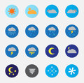 Weather Icon Set Color Royalty Free Stock Photo