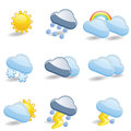 Weather icon set fancy and elegant Royalty Free Stock Photos