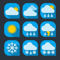 Weather icon set flat Royalty Free Stock Photo