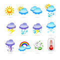 Weather icon set illustration Royalty Free Stock Photography