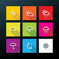 Weather icon set illustration Stock Photos