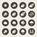 Weather icon set theme Royalty Free Stock Images
