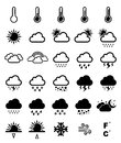 Weather icon set for your design Stock Images