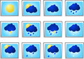 Weather icon sigh vector Stock Images