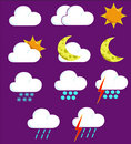 Weather Icons 2 Stock Images