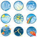 Weather icons collection Stock Image