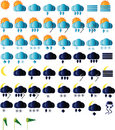 Weather icons collection Stock Photos