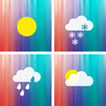 Weather icons collection button sign symbol Stock Images