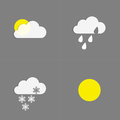 Weather icons collection button sign symbol Royalty Free Stock Photo