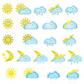 Weather icons the collection of different Stock Photo