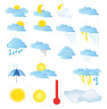 Weather icons a colorful collection of a Stock Photo
