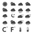Weather icons this is file of eps format Royalty Free Stock Photography