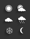 Weather icons flat design set vector illustration Stock Photo