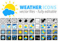Weather icons - fully editable  Royalty Free Stock Image