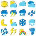 Weather icons illustration of dashed isolated on white background Royalty Free Stock Images