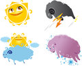 Weather icons image in the form of sheep Royalty Free Stock Images