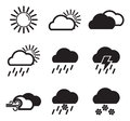 Weather icons this image is a illustration and can be scaled to any size without loss of resolution Stock Images