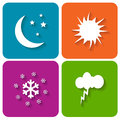 Weather icons new set on a white background Royalty Free Stock Images