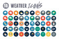 50 Weather Icons Royalty Free Stock Photo