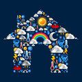 Weather Icons set house Stock Photos