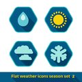 Weather icons set vector of in the style of a flat design can be used for websites interfaces applications Stock Photography