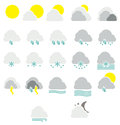 Weather icons simple vector illustration Royalty Free Stock Photo