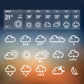 Weather icons user interface with Stock Photos