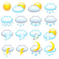 Weather Icons. Vector Royalty Free Stock Images