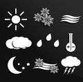 Weather icons vector eps Royalty Free Stock Image