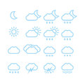Weather icons a vector illustration of different Royalty Free Stock Photography