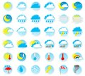 Weather icons vector illustration of a set of Royalty Free Stock Photography