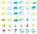 Weather icons vector illustration of a set of Stock Images