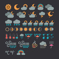 Weather icons vector set from Stock Photos