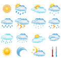Weather icons vector set of Stock Photos