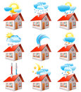 Weather icons vector set of Stock Images