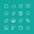 Weather Icons Vector Set. Clouds, Sky or Wind and Royalty Free Stock Photo