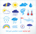 Weather icons vector set Royalty Free Stock Photo