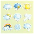 Weather icons vector set of icon Stock Photography