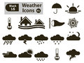 Weather icons vector set for you design Royalty Free Stock Photo