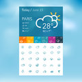 Weather icons for web and mobile Royalty Free Stock Image
