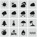 Weather icons with white background Royalty Free Stock Image