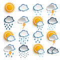 Weather icons on the white background eps file Royalty Free Stock Image