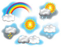 Weather illustration Royalty Free Stock Photos