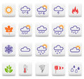 Weather and seasons icons Stock Photos