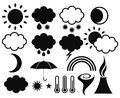 Weather. Set Stock Images