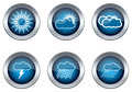 Weather set of buttons Royalty Free Stock Image