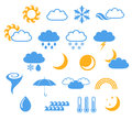 Weather set isolated objects on white background vector illustration eps Stock Image