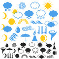 Weather set isolated objects on white background vector illustration eps Royalty Free Stock Image